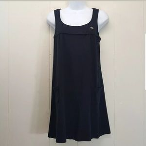 Lacoste 38 Tunic Tank Dress France Black Pockets